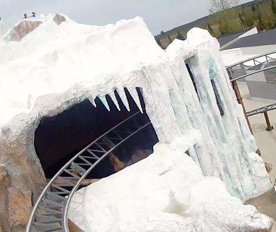 Polar X-plorer - umiejscowiona w zimowej scenerii najszybsza kolejka górska w Legolandzie
