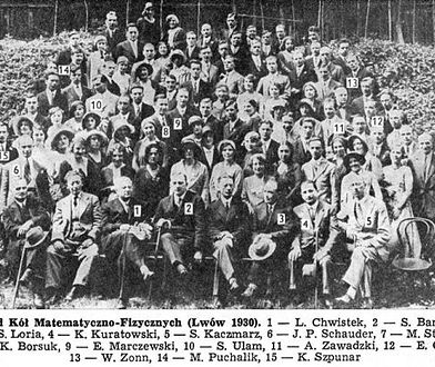 Lwowscy matematycy w 1930 roku.