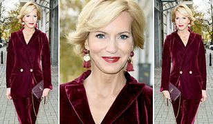LOOK OF THE DAY: Paulina Smaszcz-Kurzajewska w aksamitnym bordo