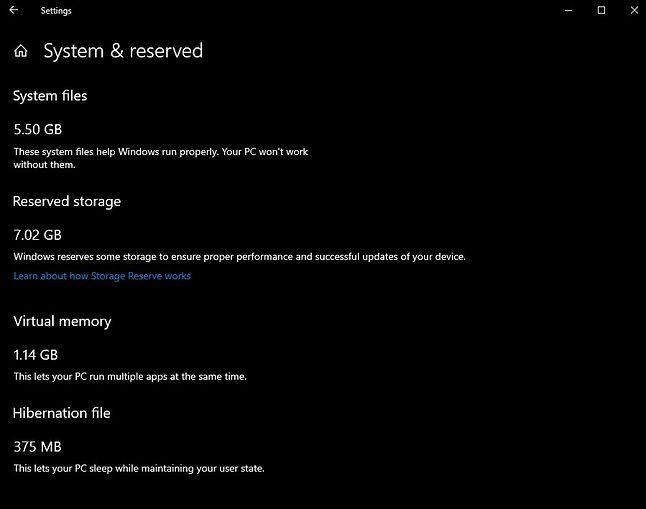 Ustawienia zarezerwowanego miejsca w Windows 10, źródło: blog Microsoft.