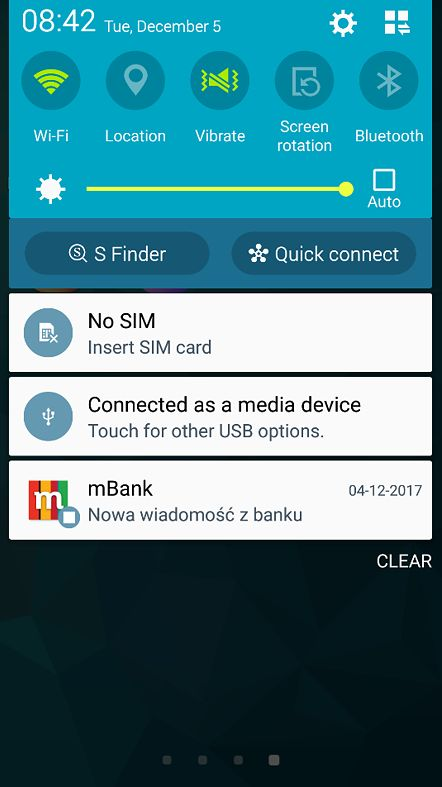 Fałszywe powiadomienie wygenerowane przez jedną ze złośliwych aplikacji po rozpoznaniu, że ofiara korzysta z aplikacji mBanku.