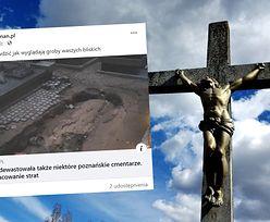 Poznań po ulewach. Upiorne zdjęcie z cmentarza