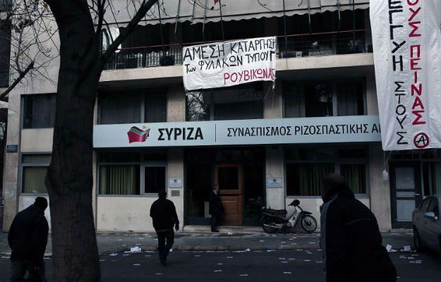 Anarchiści okupują siedzibę SYRIZY