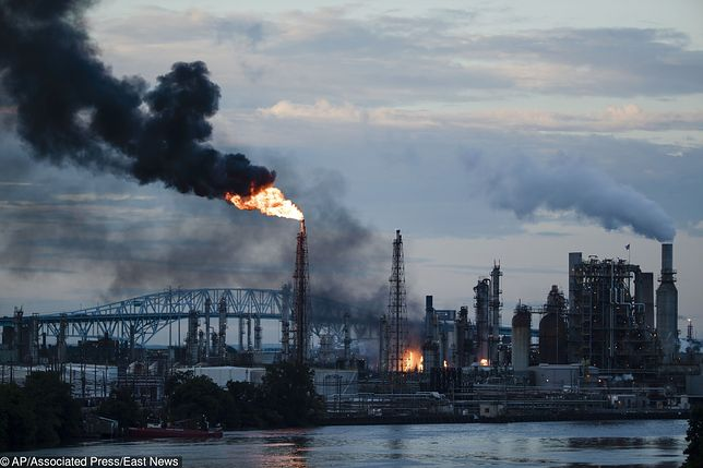 USA. Płonie rafineria w Filadelfii w stanie Pensylwania