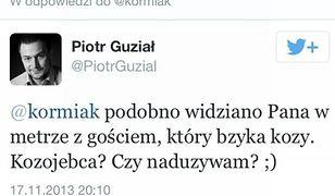 Skandaliczny wpis Piotra Guziała. Pokazuje prawdziwe oblicze?