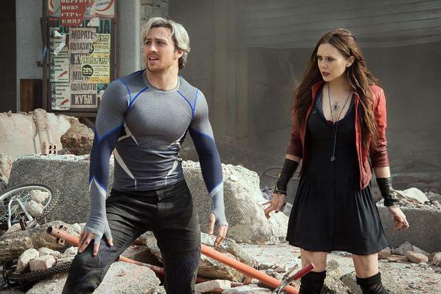 "Aaron Taylor-Johnson i Elizabeth Olsen, czyli Quicksilver i Scarlett Witch w filmie ""Avengers: Czas Ultrona"""