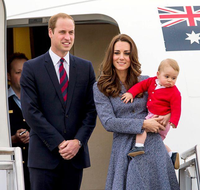 Księżna Kate, książę William, książę Jerzy