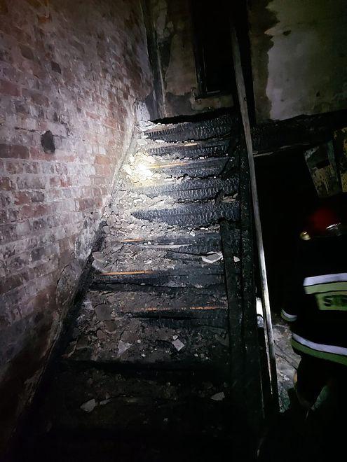 Do pożaru doszło w kamienicy przy ul. Smoluchowskiego w Gdańsku