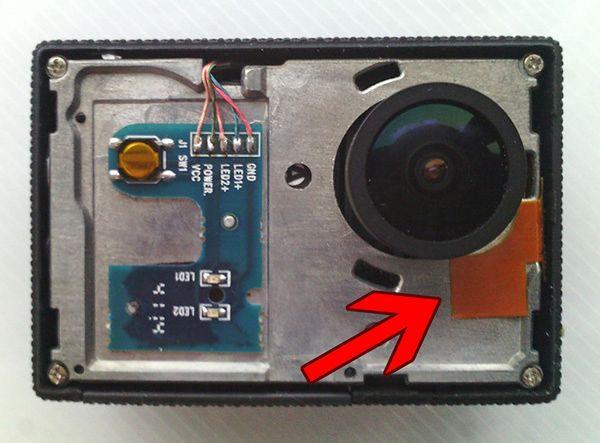 Niewłaściwie zamontowana antena WiFi w SJ5000+ (źródło: Mtz, rcgroups.com)