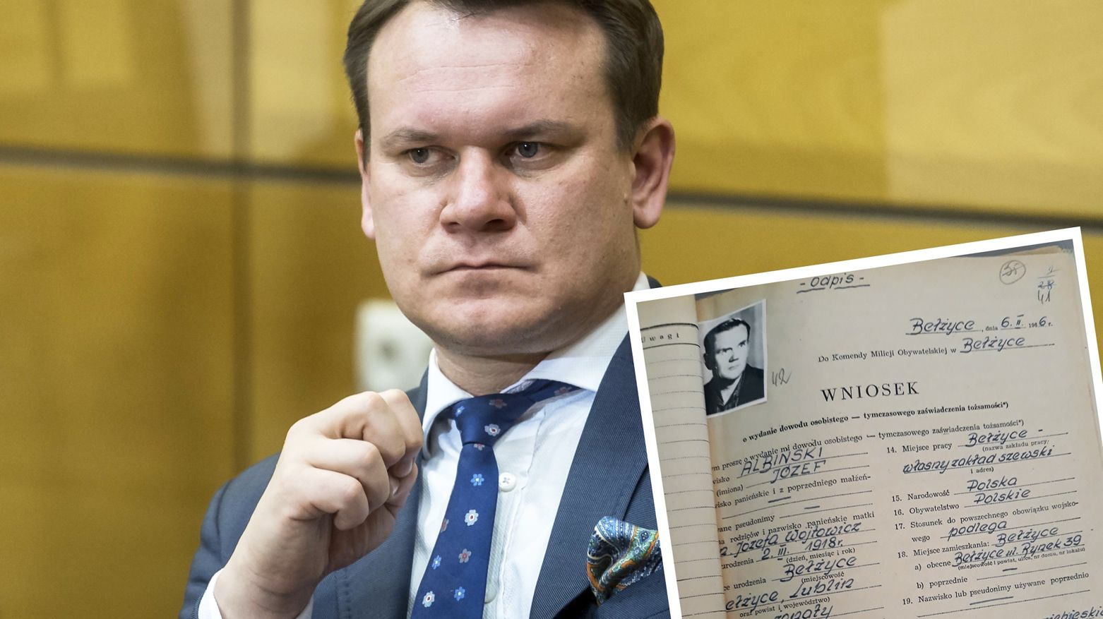Dominik Tarczyński opublikował informacje na temat dziadka. Sprawdziliśmy je w IPN