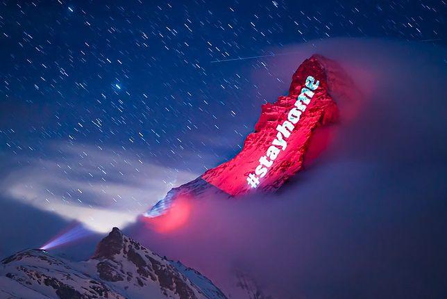 Szwajcaria. Hasło #stayhome na zboczach góry Matterhorn