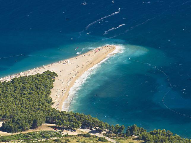Zlatni Rat to plaża na wyspie Brač