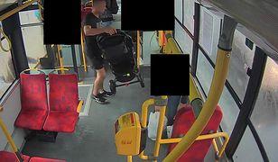 Podejrzanego zarejestrował monitoring w autobusie