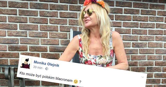 """Olejnik: """"Kto może zostać polskim Macronem?"""". Internauci: """"Nie Tusk"""""""
