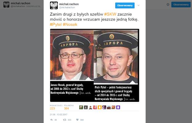 Michał Rachoń zamieścił w sieci zdjęcia uderzające w gen. Piotra Pytla.