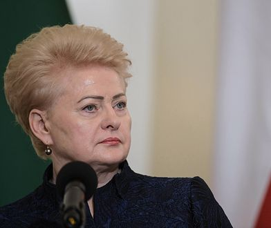 Prezydent Litwy Dalia Grybauskaite podczas wizyty w Warszawie w lutym 2019 r.