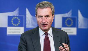 Guenther Oettinger jest komisarzem europejskim od 2010 roku