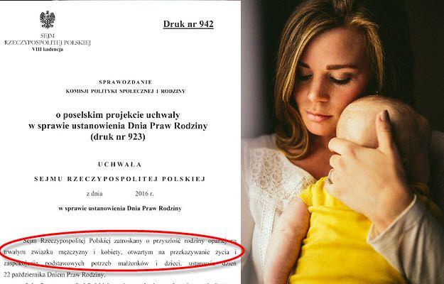Definicja rodziny według posłów PiS w ustawie o Dniu Praw Rodziny budzi wątpliwość opozycji