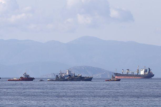 """Grecja. """"Maersk Launceston"""" bez uszkodzeń po zderzeniu z greckim okrętem wojennym"""