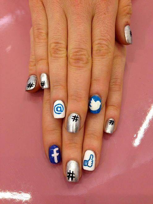 Social media na paznokciach