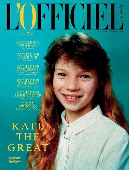 """Młoda Kate Moss na okładce """"L'Officiel Espana"""""""