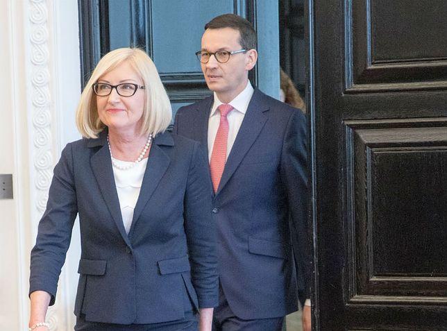 Joanna Kopcińska, rzecznik rządu, dostała nagrodę od premiera Morawieckiego za styczeń