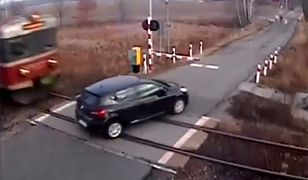 Monitoring zarejestrował wypadek na przejeździe