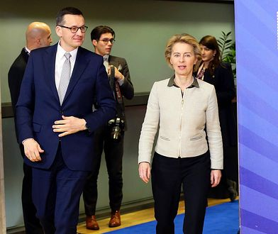 Mateusz Morawiecki i Ursula von der Leyen