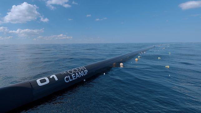 Ogromna maszyna rozpoczyna pracę. Oczyści ocean ze śmieci