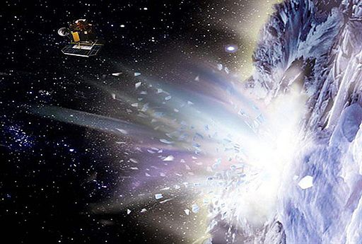 """Deep Impact """"otarła się"""" o kometę, przysłała zdjęcia"""