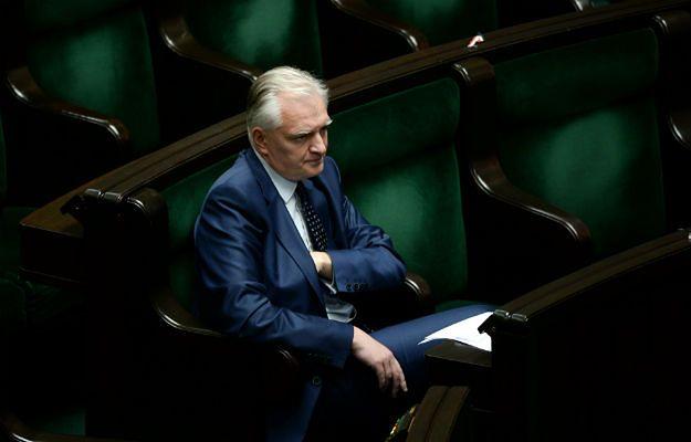Przewodniczący klubu Zjednoczona Prawica Jarosław Gowin