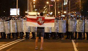 Wieczorem na ulicach Mińska doszło do protestów, które zostały stłumione przez siły bezpieczeństwa