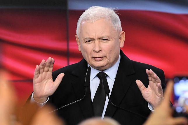 Wyniki wyborów 2019. Prezes Prawa i Sprawiedliwości Jarosław Kaczyński