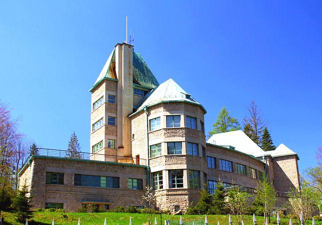 Widok na Zamek Prezydencki w Wiśle