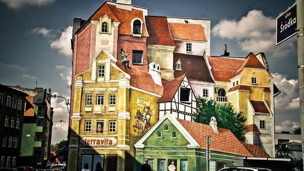 Nowa atrakcja turystyczna Poznania - trójwymiarowy mural na Śródce