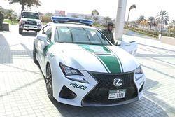 Lexus RC F we flocie policji w Dubaju