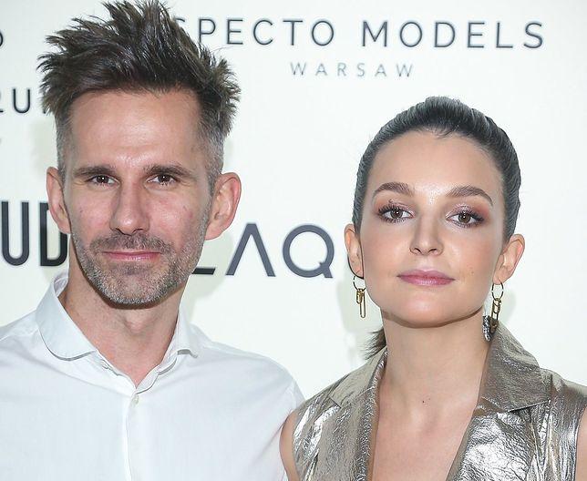 Marcin Bosak i Maria Dębska na ściance