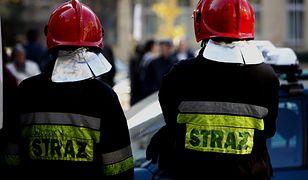 Pożar w centrum Poznania. Dwie osoby trafiły do szpitala, w tym policjant