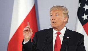 Prezydent Donald Trump podczas wizyty w Polsce