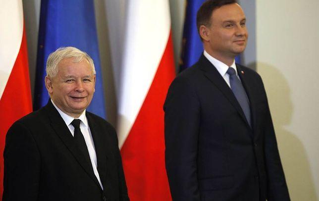 Prezes PiS Jarosław Kaczyński i prezydent Andrzej Duda