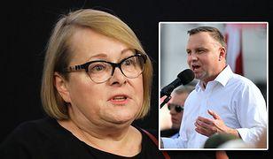 Ilona Łepkowska odniosła się do słów prezydenta Andrzeja Dudy