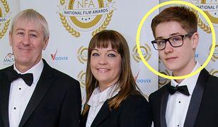 Aktor Nicholas Lyndhurst z żoną Lucy Smith i synem Archiem Lyndhurstem