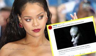Rihanna pokazała się na mieście z pokiereszowaną twarzą