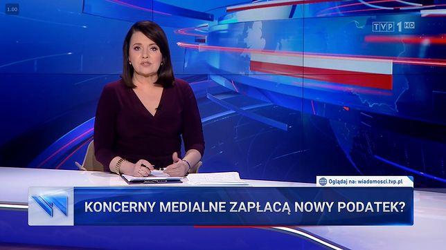 """Danuta Holecka zapowiedziała materiał """"Wiadomości"""" o proteście mediów"""