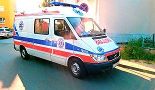 Chłopca zabrano do szpitala