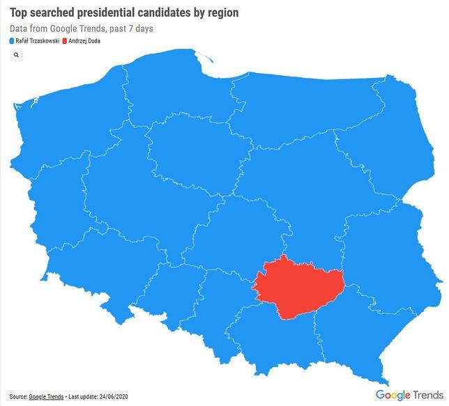 Wybory 2020: co i kto interesuje Polaków? Dane Google Trends