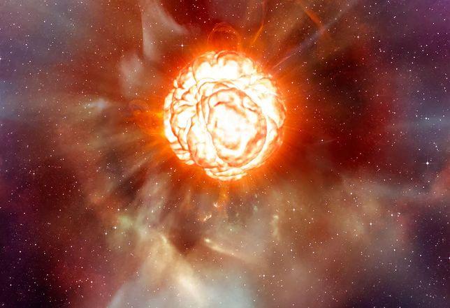 Betelgeza jest ponad 100 tysięcy razy większa od Słońca