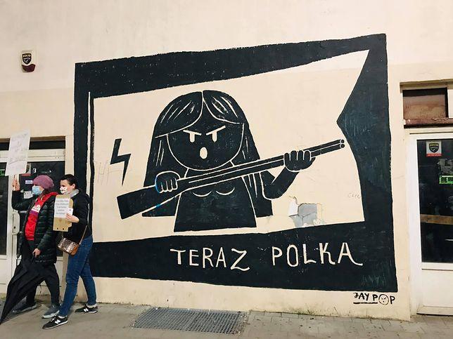 Zamalowany mural Jay Pop Artist