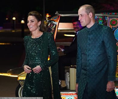 Księżna Kate i książę Harry w tradycyjnych wieczorowych strojach w Pakistanie