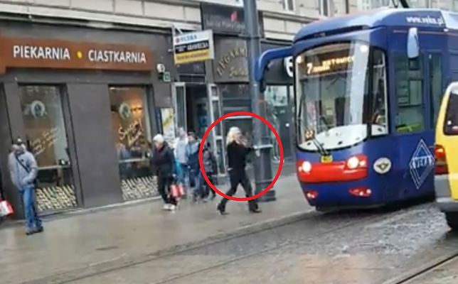 Kobieta prowadziła tramwaj linii numer 7